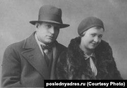 კონსტანტინე ყანდარელი ცოლთან, ელენა სოკოლოვა-ყანდარელთან ერთად