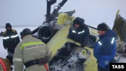 Крушение вертолета Ми-8. Архивное фото