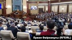 Қазақстан парламентінің сессиясы (Көрнекі сурет).