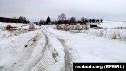 Заброшенная деревня на границе Белоруссии и России