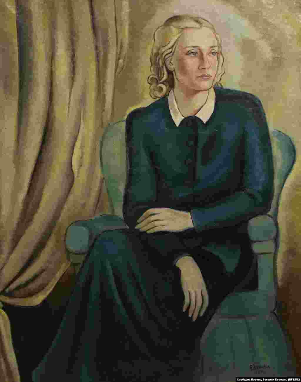 """Вера Лукова, """"Сестра ми"""", 1941 г. Лукова е една от основателките на """"Българското дружество на художниците"""" през 1931 г. През 1944 г. жените в България придобиват равни избирателни права."""