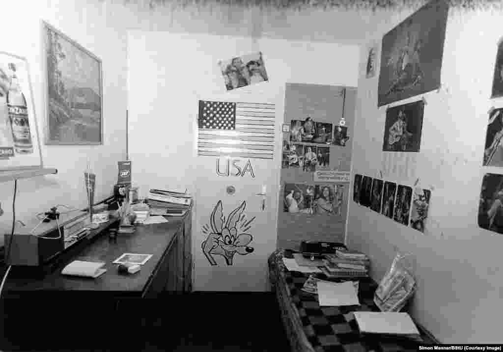"A photo documenting pro-Western sentiments inside a teenager's bedroom. One aspect of the Stasi's operations was referred to as ""decomposition"" -- the psychological torment of dissidents through actions that included destroying careers with anonymous, humiliating letter campaigns, breaking into apartments and switching medicines, or installing cameras to capture compromising pictures."