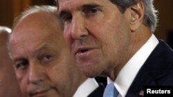 John Kerry və Laurent Fabius