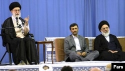 As supreme leader, Ayatollah Ali Khamenei (left) has the last word in Iran.