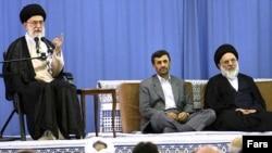 As supreme leader, Ayatollah Ali Khamenei (left) has the last word in Iran.