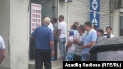 Пункт обмена валют. Баку. 24.08.2015