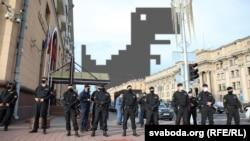 Демонстративно спиране на сайтове и интернет-портали в Минск в присъствието на органи на реда