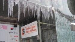 Прага также замерзает