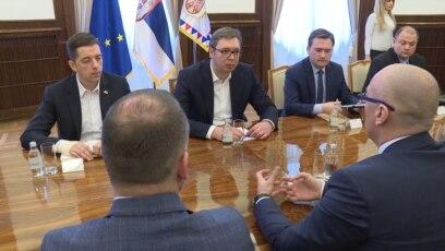 Aleksandar Vučić na sastanku sa predstavnicima Srpske liste, Beograd, 27. mart 2018.