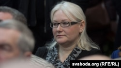 Сярод гледачоў — сястра Алеся Вольга Бяляцкая