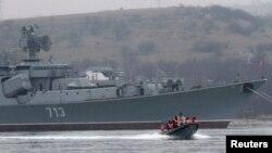 O navă militară rusă care a participat la operațiunile de la Sevastopol
