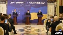 Киевтегі Украина -ЕО саммитінен кейінгі баспасөз жиыны. Киев, 8 шілде, 2019 жыл.