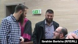 Idriz Bilibani (majtas), Enes Goga (në mes) dhe Bedri Robaj (djathtas)