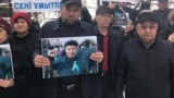 Kazakhstan – the mourning rally in memory of civil activist Dulat Agadil wich died in a Nur-Sultan city police detention center. Shymkent, 27Feb2020