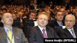 S leva na desno: Bojan Pajtić, Dragan Đilas i Boris Tadić, 25. novembar 2012.