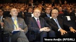 Bojan Pajtić, Dragan Đilas i Boris Tadić, u Beogradu, 25. novembra 2012.