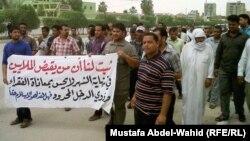 تظاهرة لأصحاب البسطيّات في كربلاء