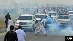 Столкновения протестующих с полицией, Пакистан, 31 октября 2016 года