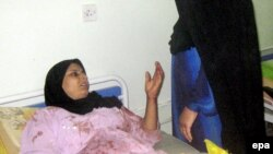 مريضة ترقد في مستشفى