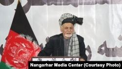 """A year ago, no one could have thought that we will be announcing to have finished off Daesh here in Nangarhar,"" Afghan President Ashraf Ghani told tribal volunteers in Nangarhar's capital, Jalalabad, on November 19"