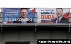 Агитационные плакаты кандидатов в президенты Польши