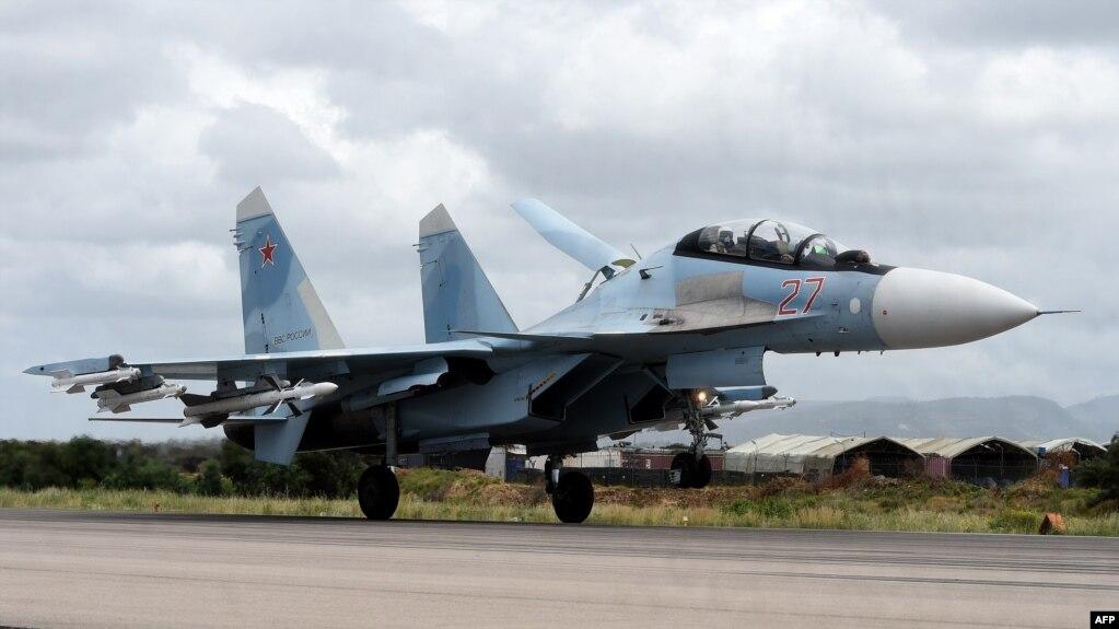 Российский Су-35 на базе Хмеймим