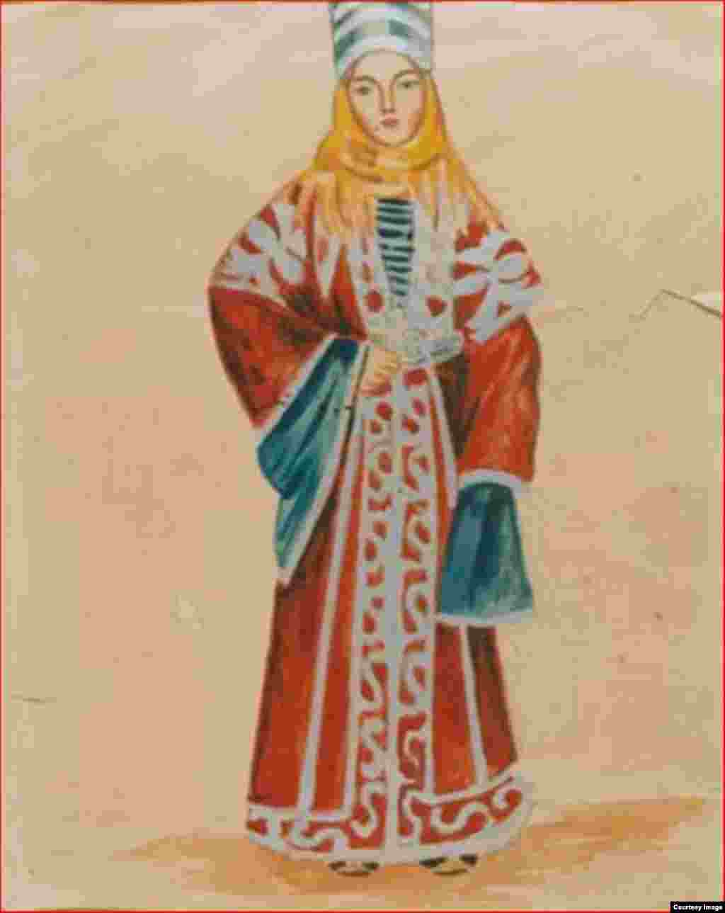 Федоров Д.С. Карачаевской костюм. Карачай. 1925 г.