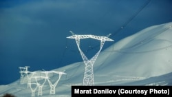 Kyrgyzstan, Naryn, Jumgal region, electric energy, winter