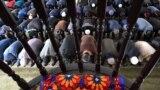 Молитва в мечети села Масанчи, населенного в основном этническими дунганами. Жамбылская область, 12 февраля 2020 года.