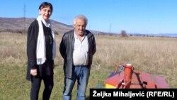 Edita Selimbegović, koordinatorica Projekta Međunarodne organizacije za migracije, i poljoprivrenik Radovan Cvijetić