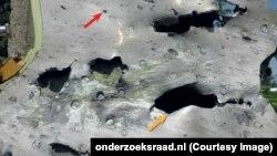 Часть фюзеляжа потерпевшего крушение «Боинга» на фото из материалов Совета безопасности Нидерландов.