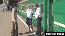 Таджикский поезд отправляется в Москву. Иллюстративное фото.