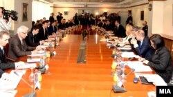 Заедничка седница на владите на Република Македонија и на Република Србија.