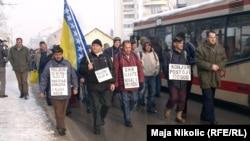 Protest radnika Konjuha krajem januara 2013.