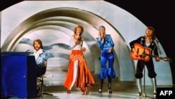 """ABBA на """"Евровидении"""" в 1974 году."""