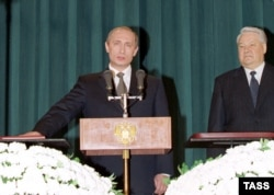 Владимир Путин и Борис Ельцин.
