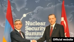 Armenian President Serzh Sarkisian meets with Turkish Prime Minister Recep Tayyip Erdogan in Washington.