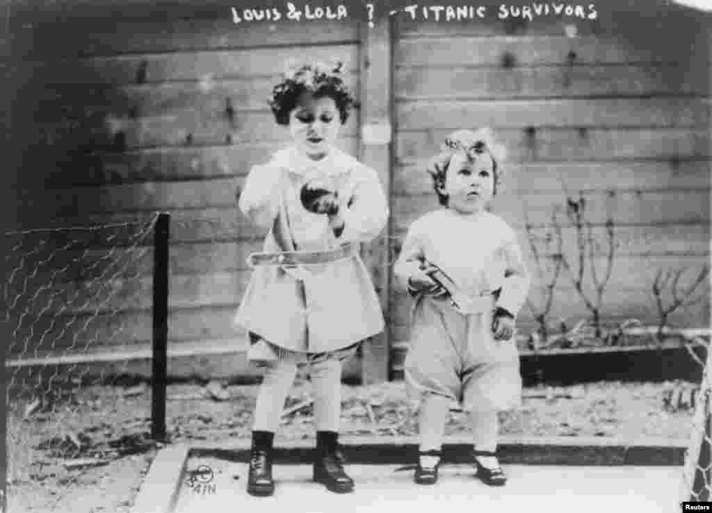 "Edmond and Michel Navratil, the so-called ""Titanic Orphans."" The boys spoke no English and it took some time to locate their mother back in France. Their father, who died in the disaster, had taken the boys in hopes their mother would follow."
