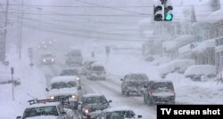 Снежный буран на Восточном побережье США. Март 2015 года