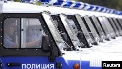 Ставропольдегі полиция көліктері (Көрнекі сурет).