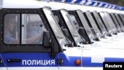 Полицейские машины в Ставрополе. Иллюстративное фото.