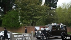 The funeral of Boris Berezovsky at Brookwood Cemetery in Surrey, England