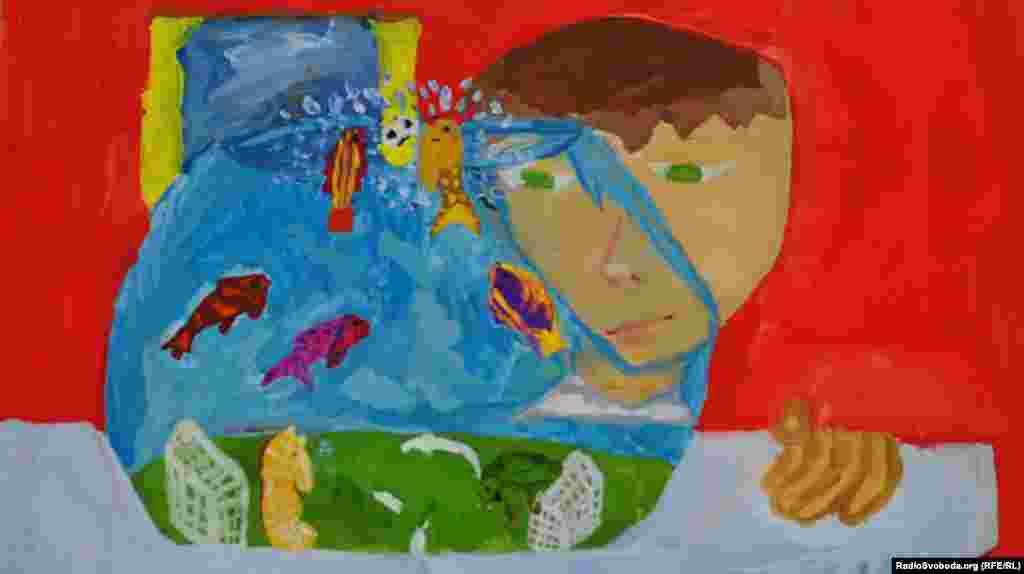 «Підводний футбол», Чепельська Катерина, 10 років