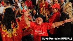 Slavlje pristalica koalicije Evropska Crna Gora