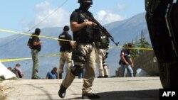 Policia speciale e Shqipërisë në vendin ku ishte vrarë një pjesëtar i saj