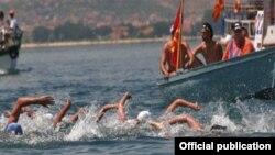 Архивска фотографија: Охридски пливачки маратон