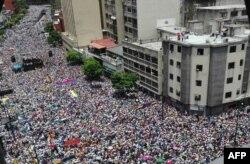 Акцыя пратэсту апазыцыі ў Каракасе, восень 2016-га