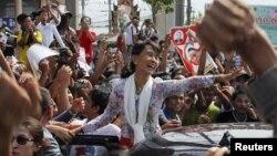 Аун Сан Су Чжи в ходе недавнего визита в Таиланд
