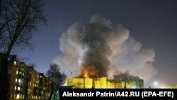 روسیه: د سایبیریا کېمېرو ښار په یوه شاپینګ سېنټر کې اور لګېدلی