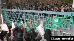 اعتراضهای دانشجویی در روز ۱۶ آذر، دانشگاه هنر تهران، خیابان ولیعصر